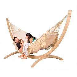 Zestaw hamakowy: hamak bossanova ze stojakiem canoa, ecru bsh18cns201 marki La siesta