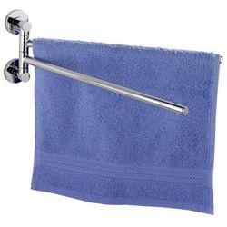 Podwójny uchwyt na ręczniki Elegance Power-Loc, wieszak - stal chromowana, WENKO (4008838178140)