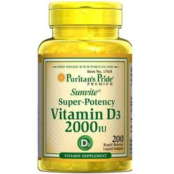 Puritan's Pride Witamina D3 2000IU 200 kaps., produkt z kategorii- Witaminy i minerały