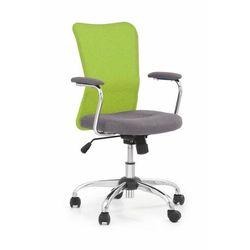 Fotel Andy zielony kolor zielony kółka do dywanów