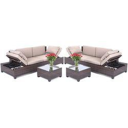 Home&garden Meble ogrodowe home&garden technorattanowa sofa milano 2 w 1 brown/taupe