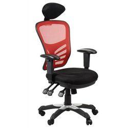 Fotel biurowy gabinetowy HG-0001H/CZERWONY krzesło biurowe obrotowe