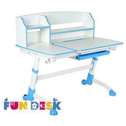 Amare ii blue - ergonomiczne, regulowane biurko dziecięce z nadstawką - złap rabat: kod70 marki Fundesk