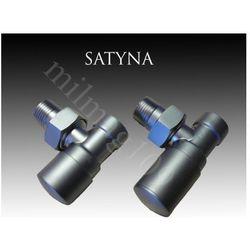 Zawór grzejnikowy łazienkowy SWING kątowy SATYNA - produkt z kategorii- Zawory i głowice