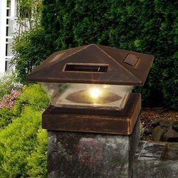 Globo Lampa solarna led 33039, 15 x 15 cm, antyk czarna