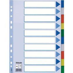 Esselte Przekładki do segregatora A4 plastikowe 10 kart (10K217A) Darmowy odbiór w 19 miastach! (5902812152616)