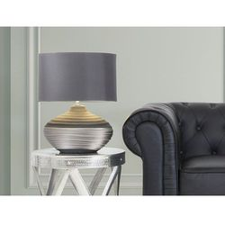 Nowoczesna lampka nocna - lampa stojąca - szara - lima marki Beliani
