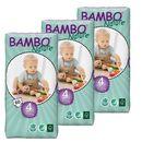 Bambo nature Eko pieluszki jednorazowe maxi 7-18 kg, karton (3op x 60szt), abena