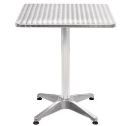 Vidaxl stół ogrodowy, aluminium, kwadratowy, 60 x 70 cm (8718475569688)