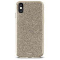 PURO Glitter Shine Cover - Etui iPhone X (Gold)