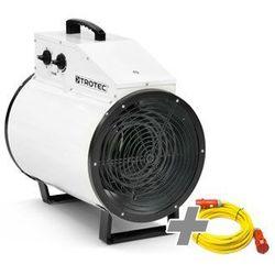 Trotec Nagrzewnica elektryczna tds 75 r biała + przedłużacz profi 20 m / 230 v / 2,5 mm² (4052138031629)