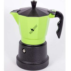 Kawiarka top 6 filiżanek - czarno zielona marki Top moka