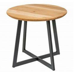 Industrialny stolik nocny z dębowym blatem - Evron, 41578