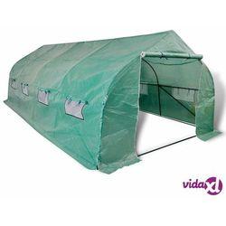Vidaxl tunel ogrodowy ze stalową ramą i wejściem, 18 m² (8718475505013)