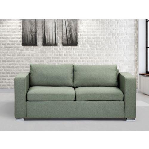 Sofa oliwkowa - trzyosobowa - kanapa - sofa tapicerowana - HELSINKI - produkt dostępny w Beliani