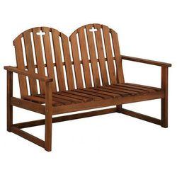 Drewniana ławka ogrodowa Manus - brązowa