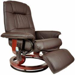 Fotel masujący wypoczynkowy biurowy masaż grzanie - brązowy marki Regoline