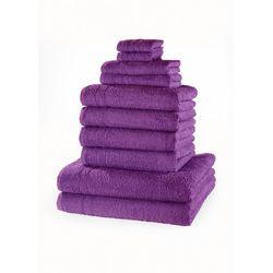 """Komplet ręczników """"New Uni"""" (10 części) bonprix lila"""