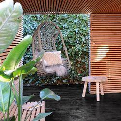 Hk living  :: fotel wiszący na zewnątrz brązowy