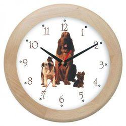 Zegar drewniany rondo sfora, ATW301H2