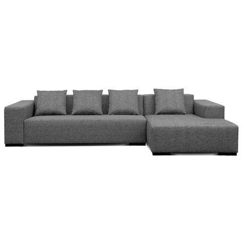 Sofa narozna L - tapicerowana - drewniane nózki - srednioszara - LUNGO - sprawdź w Beliani