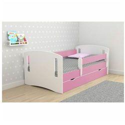 Łóżko dla dziewczynki z materacem Pinokio 3X 80x140 - różowe, Kocot-łóżko-2-classic-różowe