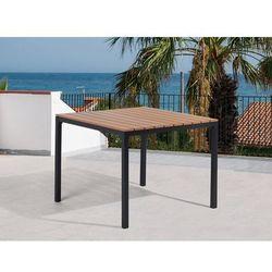 Stół ogrodowy brązowy - meble ogrodowe - aluminium - 95x95 cm - prato marki Beliani