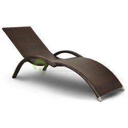 Leżak ogrodowy z technorattanu MARGO brązowy, towar z kategorii: Leżaki ogrodowe