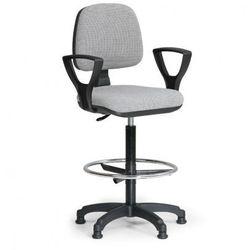 Podwyższone krzesło milano z podłokietnikami - szare marki B2b partner