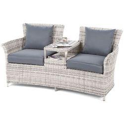 Sofa ogrodowa z technorattanu milos l/g marki Home&garden