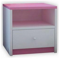 Producent: elior Szafka nocna dla dziewczynki happy 4x - różowa