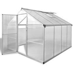 Vidaxl szklarnia ogrodowa ze wzmacnianą aluminium ramą 6,05 m2 (8718475905998)