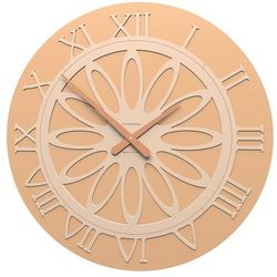 Zegar ścienny Athena CalleaDesign jasnobrzoskwiniowy, kolor różowy