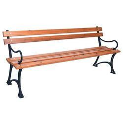 ławka parkowa z podłokietnikami marki Rojaplast