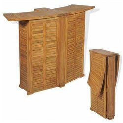 Drewniany barowy stolik ogrodowy - Arden, vidaxl_43804