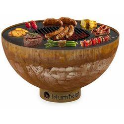Blumfeldt Savage, misa paleniskowa z grillem, Ø: 60,5 cm, stal, osłona pogodowa, kolor rdzy (4060656227264)