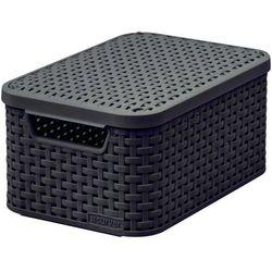 Koszyk do przechowywania z pokrywką Style Box S V2 + LID - DBR210 Ciemny brąz