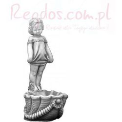 Figura ogrodowa betonowa dziecko z donicą 72cm