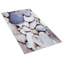 Beliani Dywan beżowy kamienie 80 x 150 cm krótkowłosy denizli