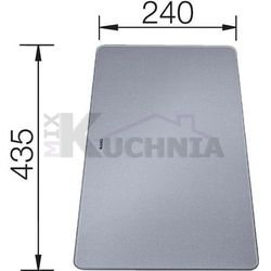 Deska do krojenia ze srebnego szkła hartowanego Blanco - 227699, 227699