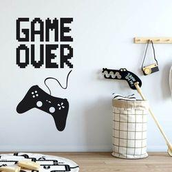 Naklejka na ścianę dla dzieci game over 2495