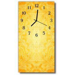 Zegar Szklany Pionowy Sztuka Abstrakcja żółty