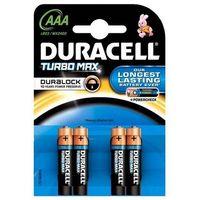 4 x bateria alkaliczna Duracell Duralock Turbo Max LR03 AAA (blister), kup u jednego z partnerów
