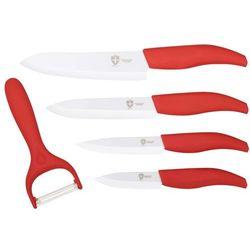 Royalty line 4 el. zestaw noży ceramicznych + stojak / rl-c4st red / 01-063