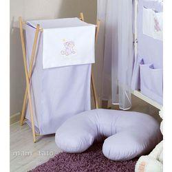 MAMO-TATO Kosz na bieliznę Miś na chmurce w fiolecie z kategorii Kosze na pranie