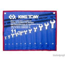 King tony Zestaw kluczy płasko-oczkowych odgiętych 11cz. 6 - 22mm 1271mrn