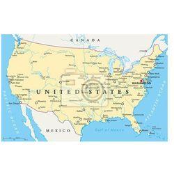Fototapeta Stany Zjednoczone mapa polityczna - produkt dostępny w REDRO