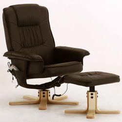 Fotel masujacy wypoczynkowy z masazem + ogrzewanie - brązowy wyprodukowany przez Regoline