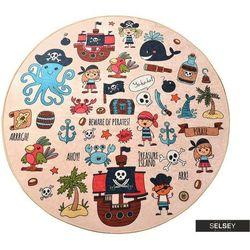 Selsey dywan do pokoju dziecięcego dinkley pirat średnica 140 cm (5903025555034)