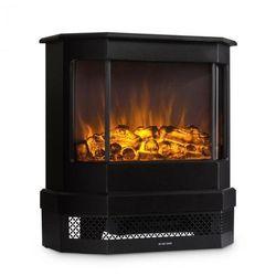 castillo kominek elektryczny halogenowa imitacja płomieni czarny marki Klarstein